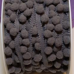Pomponband klein anthrazit