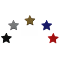 Kam Snaps - Stern dunkelblau - glanz - 25 Stück