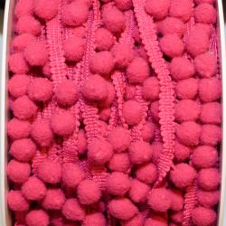 Pomponband klein pink