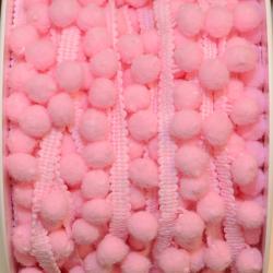 Pomponband klein rosa