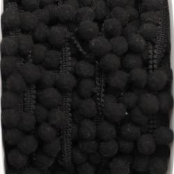 Pomponband klein schwarz