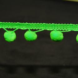 Pomponband grün